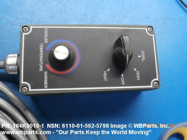 MILITARY DRS HVAC WIRED AC HEAT SWITCH REMOTE CONTROL 184K0010 6110-01-562-5798